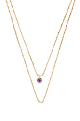 Natalie B Birthstone Necklace Metallic Gold
