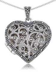 Lord And Taylor Sterling Silver Heart Pendant Necklace