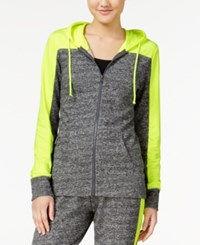 Material Girl Active Juniors' French Terry Colorblocked Hoodie Only At Macy's Limearita