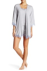 Pj Salvage Solid Modal Robe Gray