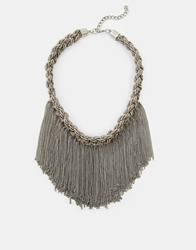 Selected Femme Cali Chain Collar Necklace Silver