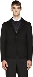 Jil Sander Black Wool And Cashmere Deconstructed Blazer