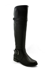 Betani Footwear Amber Buckle Riding Boot Black