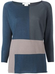Fabiana Filippi Colour Block Jumper Grey