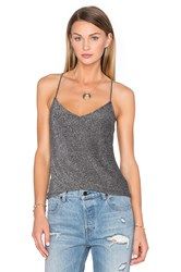 House Of Harlow X Revolve Remi Cross Back Cami Metallic Silver