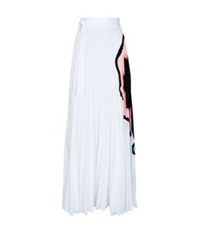 Issa Felicity Abstract Print Maxi Skirt White