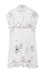 Juliet Dunn Embroidered Shirt Dress Multi