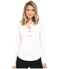 Alternative Apparel Organic Pima Henley White Women's Clothing