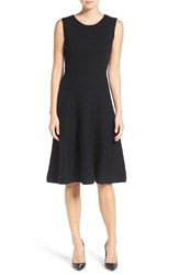 Classiques Entierr Women's Entier Merino Wool Blend Rib Knit Fit And Flare Dress