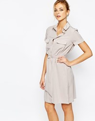 Closet Smart Shirt Dress With Button Detail Pink
