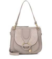 See By Chloe Hana Hobo Large Leather And Suede Tote Grey