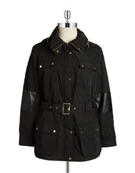 Calvin Klein Plus Belted Quilted Coat Black