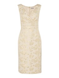 Shubette Sleeveless Jacquard Dress With V Neck Champagne