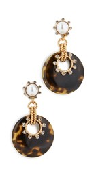 Elizabeth Cole Krieger Earrings Tortoise