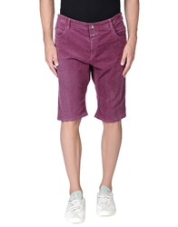 Closed Trousers Bermuda Shorts Men Garnet