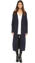 Nicholas Angora Long Cardigan Navy