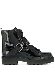 Tod's Buckled Biker Boots Black