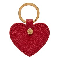Mulberry Leather Heart Keyring Scarlet