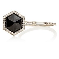 Monique Pean Women's White Diamond And Black Guatemalan Jade Ring No Color
