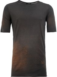 Avant Toi Bleach Effect T Shirt Grey