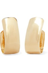 Jennifer Fisher Small Bolden Gold Plated Hoop Earrings One Size