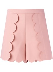 Msgm Scalloped Shorts Pink Purple