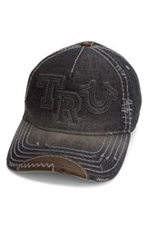 True Religion Men's Brand Jeans Denim Baseball Cap Black