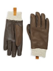 Ugg Casual Leather And Shearling Smart Gloves Black Slate