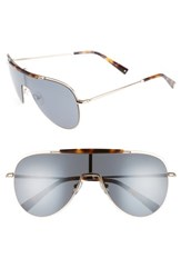 Kendall Kylie Women's Shield Aviator Sunglasses Dark Tort Classic Gold Dark Tort Classic Gold