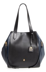 Lodis Downtown Charlize Rfid Leather Tote Blue Navy Black
