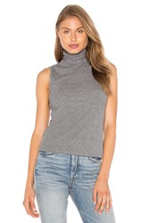 Theory Wendel Turtleneck Tank Gray