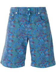 Jacob Cohen Floral Print Shorts Blue