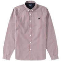 Fred Perry Basketweave Shirt Grey