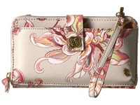Elliott Lucca Theo Large Smartphone Crossbody Peach Wildflower Cross Body Handbags Multi