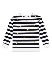 Kate Spade Striped Sequin Dot Sweatshirt Size 7 14 Multi
