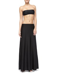 Upf 50 Long Skirt Coverup Black