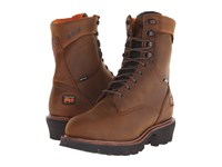 Timberland 9 Rip Saw Soft Toe Waterproof Insulated Logger Brown Distressed Leather Men's Work Boots
