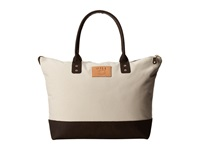 Will Leather Goods Getaway Tote Canvas Natural Brown Luggage Tan