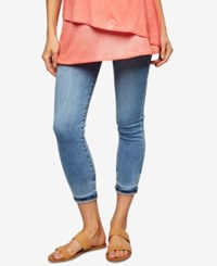 A Pea In The Pod Maternity Medium Wash Cotton Skinny Jeans Light Wash