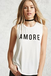 Forever 21 Amore Tank Top White