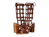 Sol Sana Ebony Heel Chestnut High Heels Brown