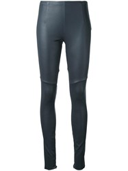 Scanlan Theodore Stretch Leather Leggings Grey