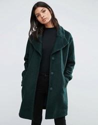 Y.A.S Camen Textured Oversized Coat Green