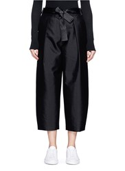 Elizabeth And James 'Anderson' Belted Silk Wool Cropped Pants Black