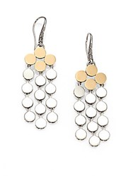 John Hardy Dot 18K Yellow Gold And Sterling Silver Chandelier Earrings