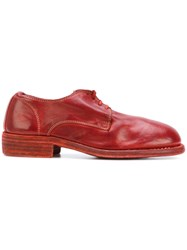 Guidi Lace Up Shoes Women Leather 39 Red