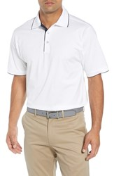 Bobby Jones Solid Tipped Polo White
