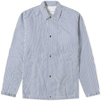Comme Des Garcons Shirt Stripe Coach Jacket Blue