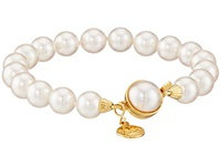 Majorica 1 Row 8Mm Pearl Bracelet Gold White Bracelet Multi
