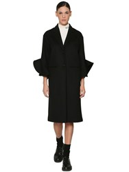 Valentino Wool And Cashmere Coat Black